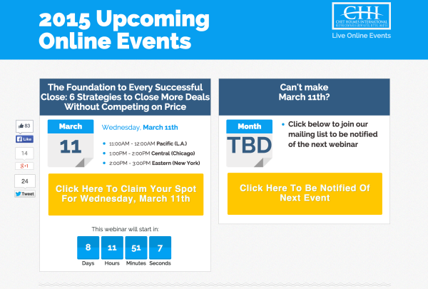 Upcoming Online Events
